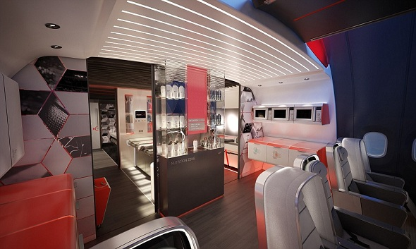 The airplane will help players' recovery, circulation, sleep and thinking