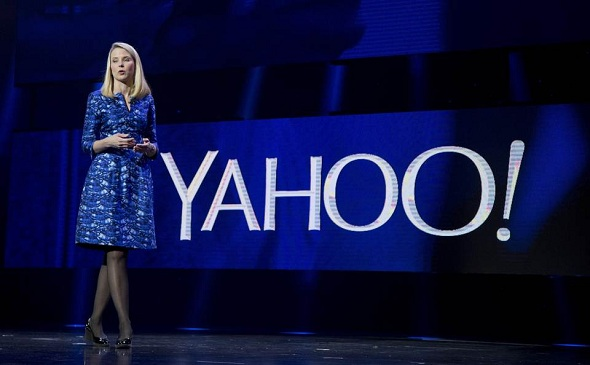 Yahoo CEO Marissa Mayer during the International Consumer Electronics Show in Las Vegas on Jan 7, 2014