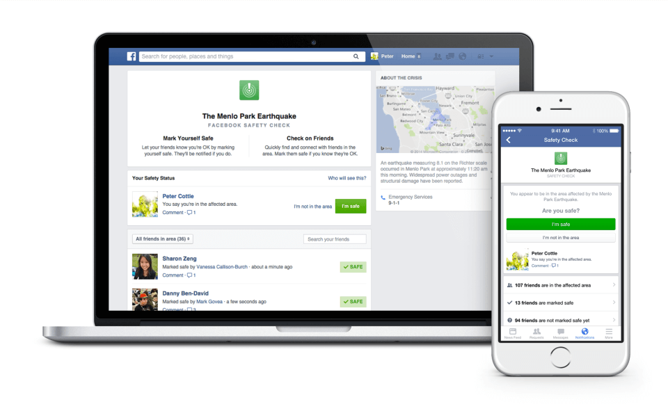 Facebook creates 'Safety Check,' a tool to connect with family during natural disasters