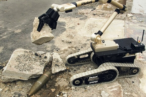 iRobot creates Military Robots that can be controlled using a tablet in conflict-zones