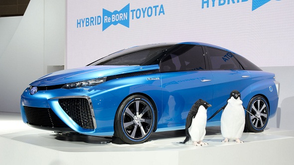 Toyota begins production of Mirai electric car that runs on hydrogen fuel cells