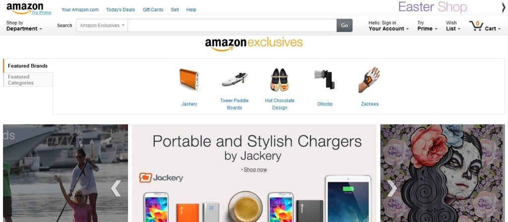 Amazon Launches Exclusives Store in Online Marketplace for Selling Innovative New Products