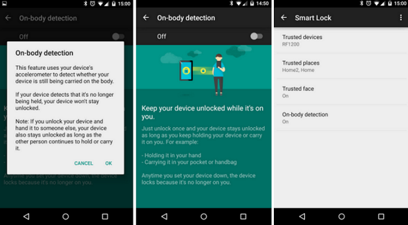 Google rolls out on-body detection and smart lock features for better smart phone use