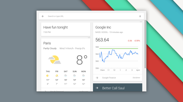 Google Announces Chrome OS Update That Includes Google Now support And Material Design