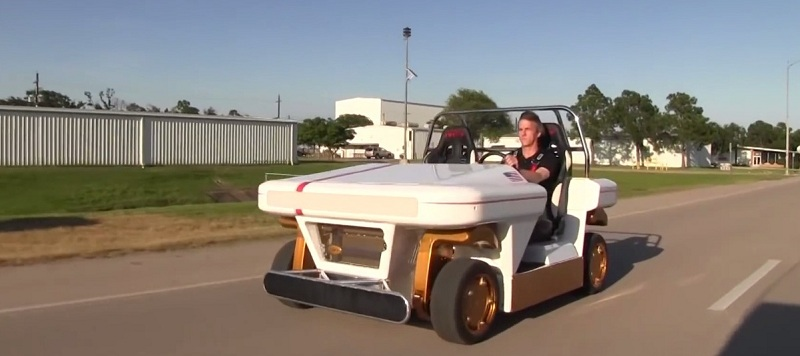 NASA unveiled its new electric vehicle prototype that can drive sideways