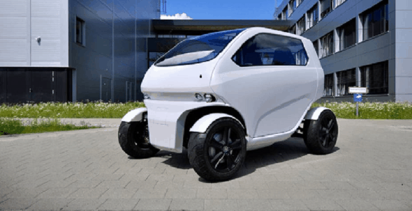 The unique EO Smart Connecting Car 2 can shrink and drive sideways to park in any tiny space