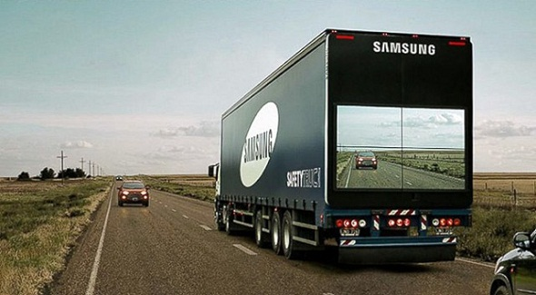 Samsung's new transparent Safety Truck promises to save lives