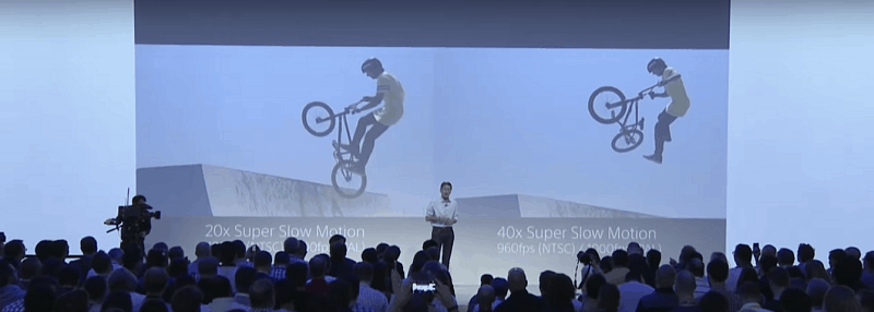SOURCE: SONY Press Conference Event, IFA Berlin 2015. RX10 II and RX100 IV- Slow motion video recording functionality*1