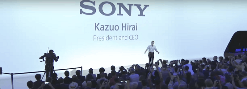 PICTURE: Kazuo Hirai, President and CEO, Sony, addressing at the Press Conference In IFA Berlin 2015