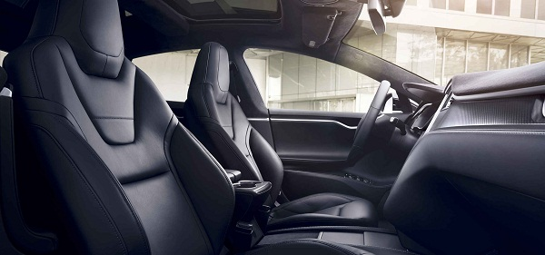 Model s interior with next-generation leather seats (Image graph:teslamotors.com)