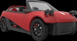 LM3D Swim, 3D Printed Car Model by Local Motors