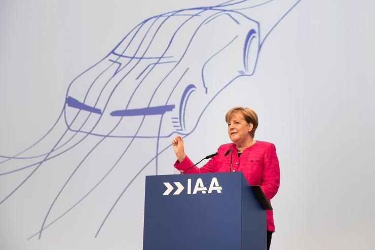 Frankfurt Motor Show Angela Merkel
