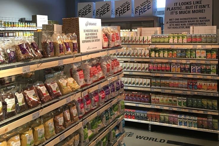 Plastic Free Ekoplaza Supermarket Aisle