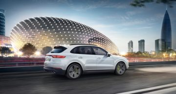 The 2019 Porsche Cayenne E-Hybrid offers an estimated 27 miles of electric range