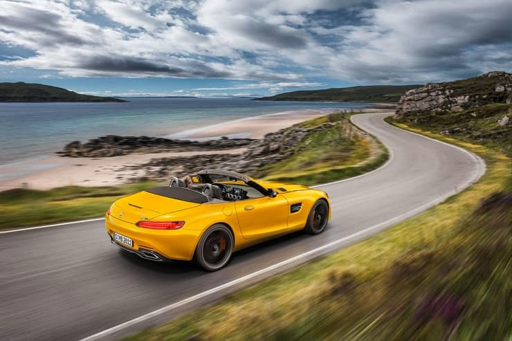 Mercedes-AMG GT S Roadster on road