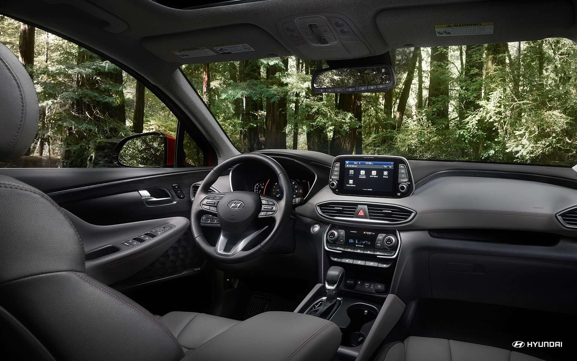 Hyundai unveils suv for family camping 2019 santa fe - Santa fe hyundai interior pictures ...