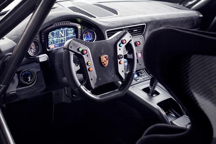 Porsche 935 race car interior