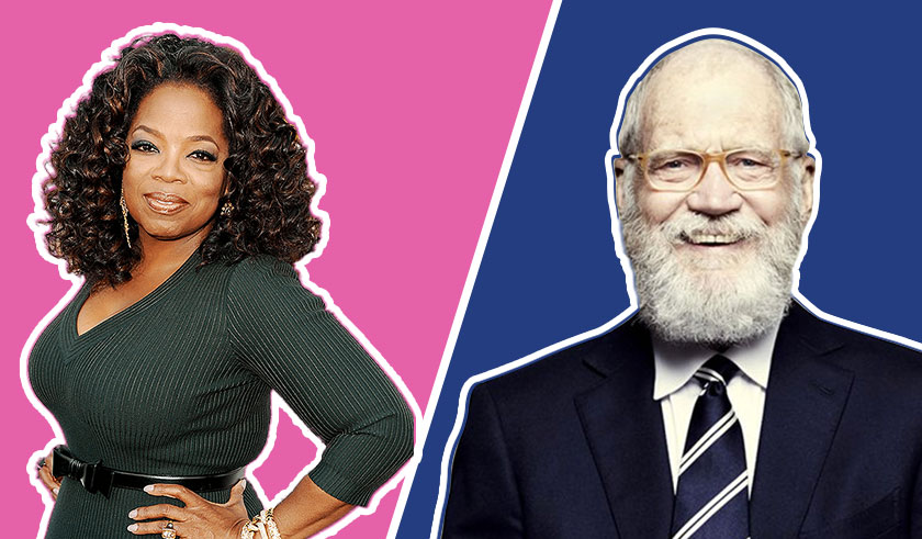 Oprah Winfrey and David Letterman rivalry