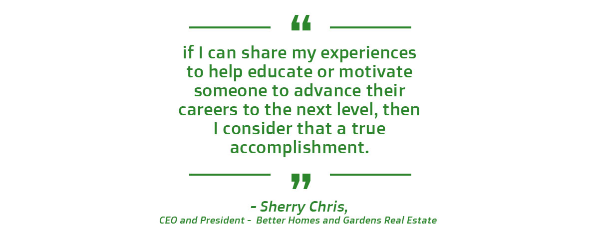 Sherry Chris - influential real estate leaders