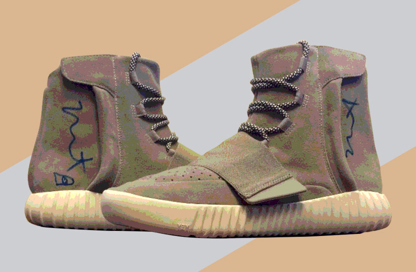 Adidas Yeezy Boost 750 Signed By Kanye West