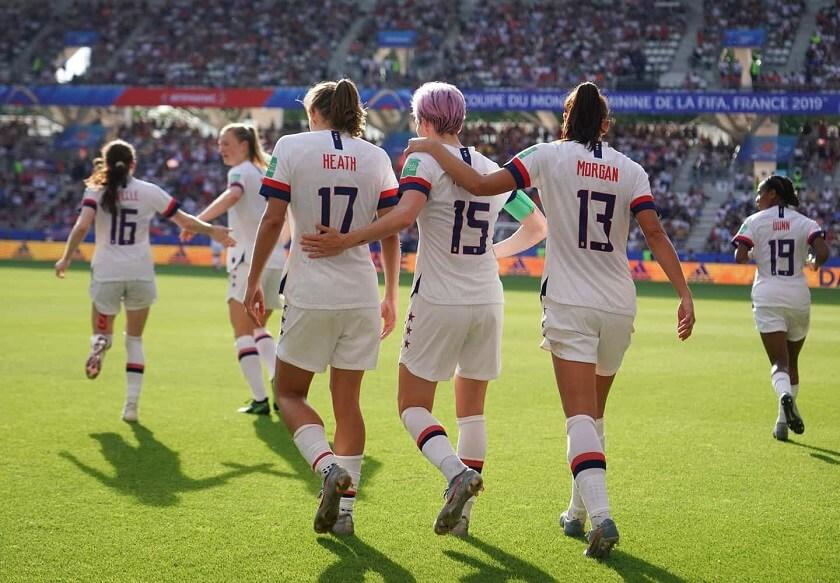 US women's soccer team gender pay gap in soccer