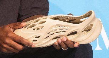 Kanye West unveils Yeezy shoes made of algae foam