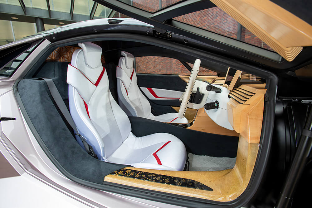 Supercar made of wood wooden nano cellulose vehicle