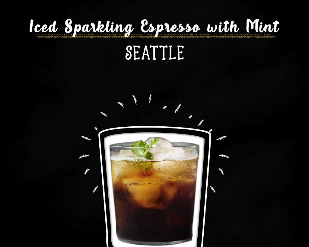 Iced Sparkling Espresso with Mint new