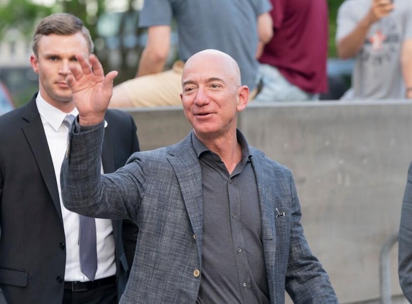US tech billionaires Jeff Bezos Elon Musk Steve Ballmer