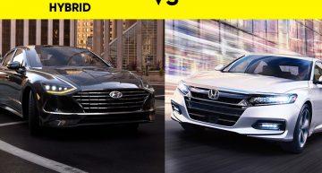 2020 Hyundai Sonata Hybrid vs Camry vs Accord