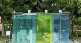 Smart Glass Public Toilets introduced in Public Parks in Japan