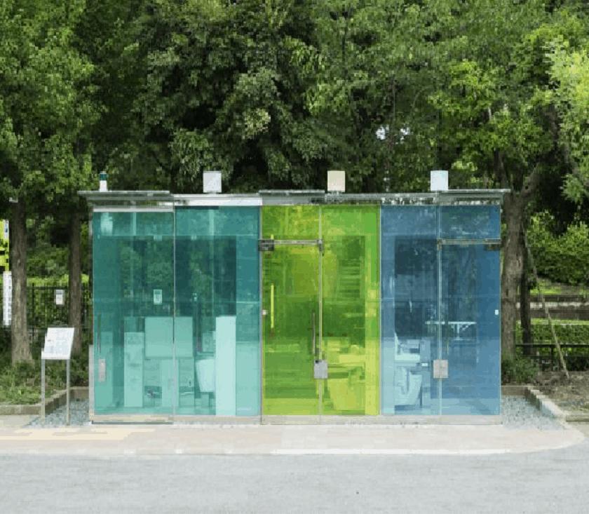 Smart Glass Public Toilet Technology