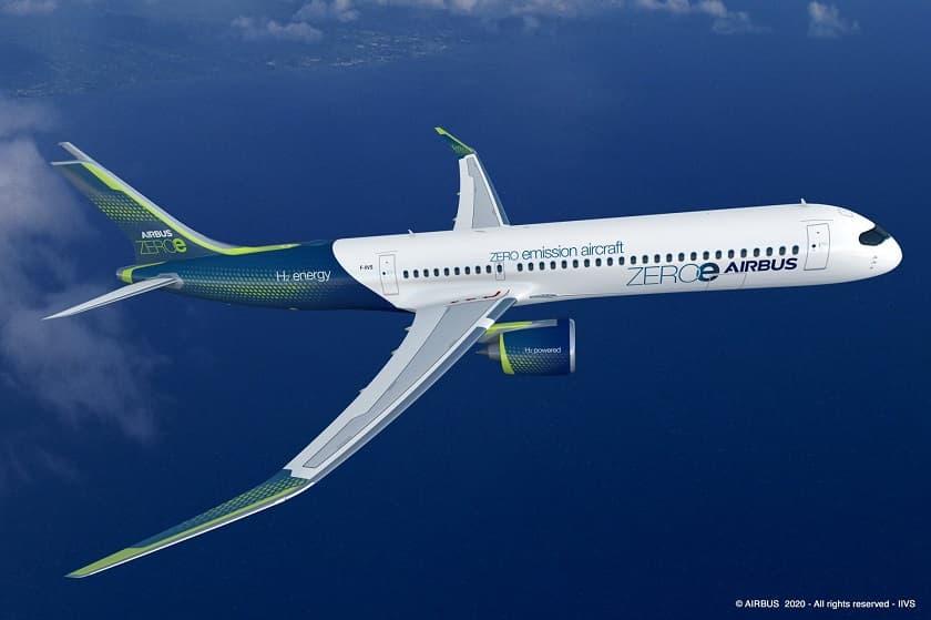 Airbus Hydrogen Powered Concept Zero Emissions Turbofan