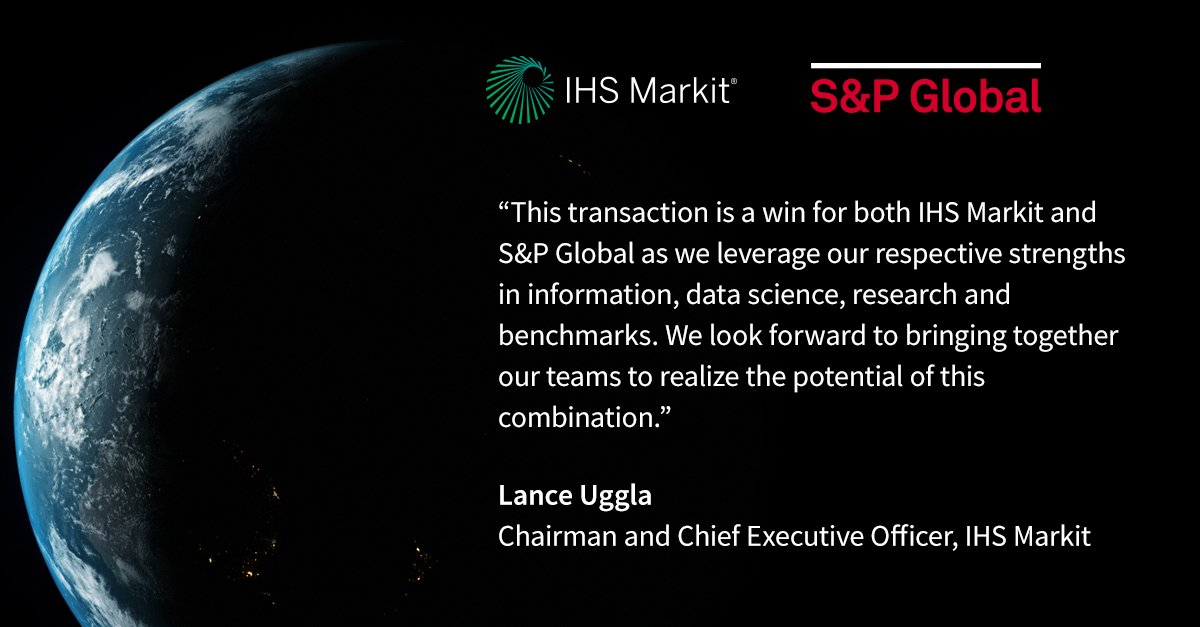 S&P Global IHS Markit Acquisition News