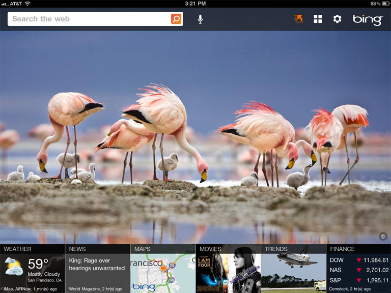 Google vs Australia Bing Search Engine Screenshot