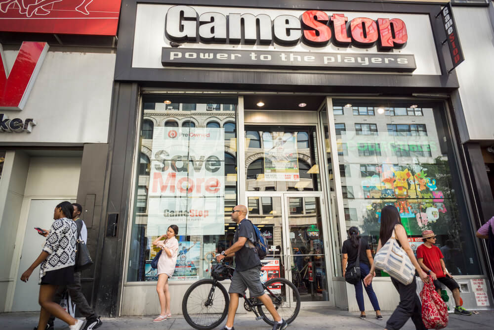 GameStop shares stock Russell Index