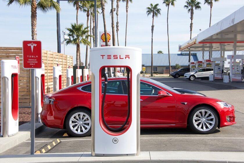 Tesla shares stock 2021