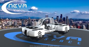 At the Paris Air Show, Neva AirQuadOne Flying Car Takes Off