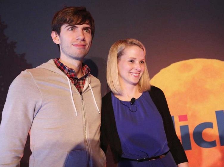 (L) Tumbler founder David Karp; (R) Yahoo CEO Marissa Mayer