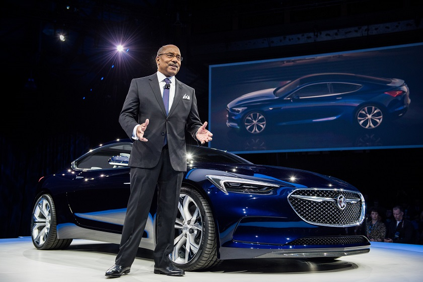 General Motors Vice President Global Design Ed Welburn unveils the Buick Avista concept Sunday, January 10, 2016 in Detroit, Michigan. (Photo by Steve Fecht for Buick)