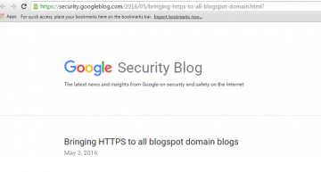 Blogspot Domains Moved to HTTPS for Single Web Security Standard