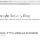 Single Web Security Standard