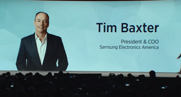 Cheif Operating Officer Tim Baxter of Samsung addressing the Samsung Press Conference at CES 2016
