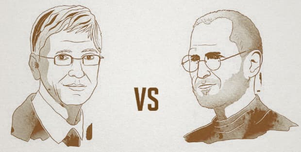 business rivalries in technology Microsoft vs. Apple