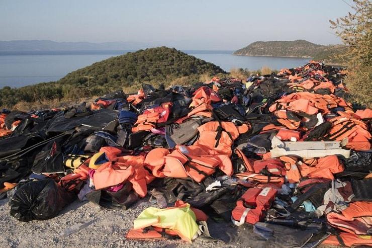 dumped life jackets