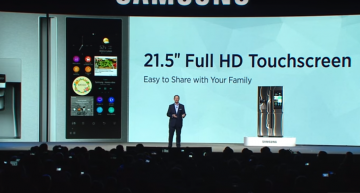 The gigantic 21.5″ refrigerator by Samsung having full HD screen by Samsung.