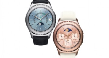 Samsung Gear S2: Korean company unveils new plated color options: Rose gold, Black leather, and Ivory. The watch will also offer NFC technology.