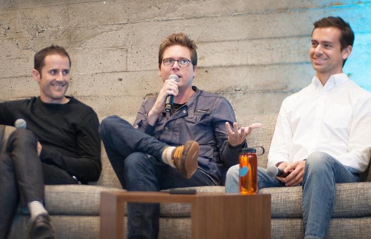 twitter earnings -twitter co-founders jack dorsey - evan williams - and biz stone-min